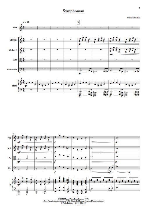 Symphoman - Chant et Quintette à Cordes - SHELLER W. - app.scorescoreTitle