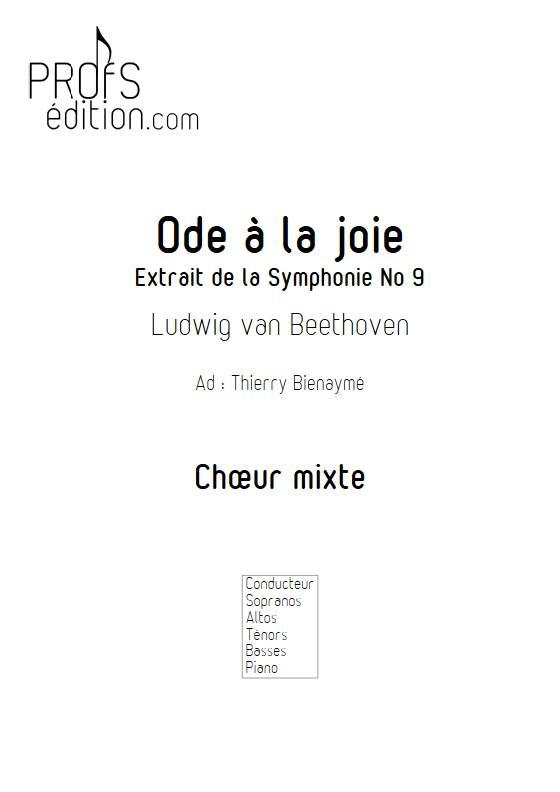 Ode à la joie - Chœur mixte - BEETHOVEN L. - page de garde