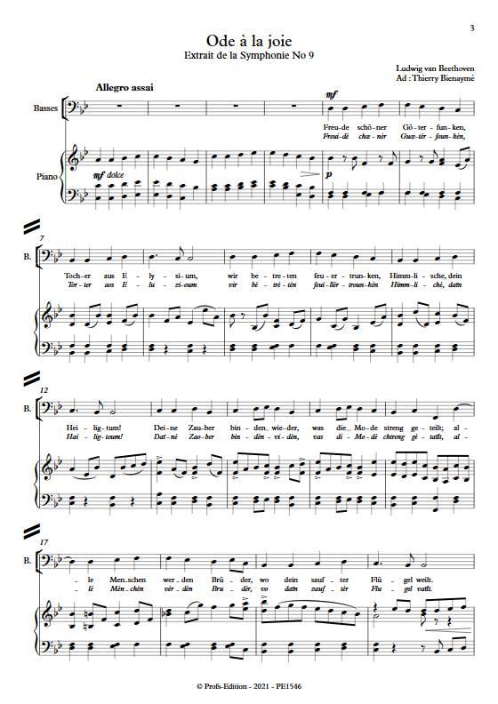 Ode à la joie - Chœur mixte - BEETHOVEN L. - app.scorescoreTitle