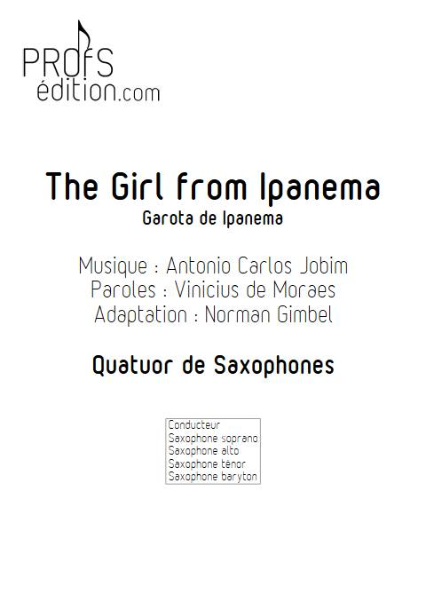 The girl from Ipanema - Quatuor de Saxophones - JOBIM A. C. - page de garde