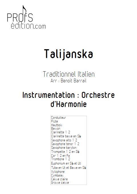 Talijanska - Orchestre d'Harmonie - TRADITIONEL ITALIEN - page de garde