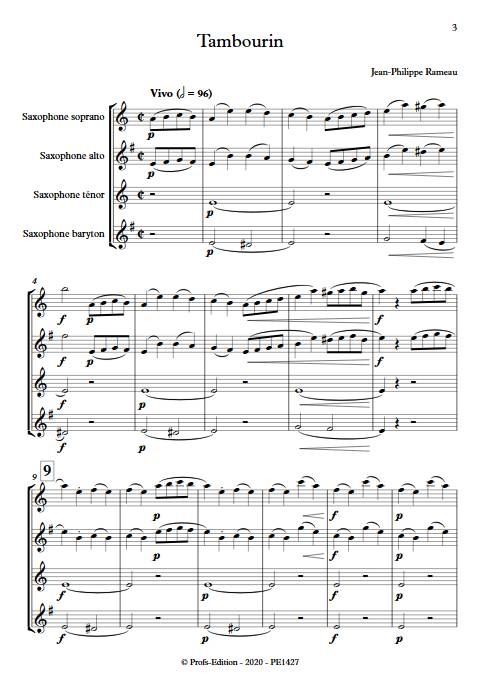 Tambourin - Ensemble variable - RAMEAU J. P. - app.scorescoreTitle