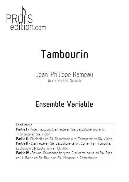 Tambourin - Ensemble variable - RAMEAU J. P. - page de garde