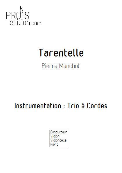 Tarentelle - Trio Violon Violoncelle Piano - MANCHOT P. - page de garde
