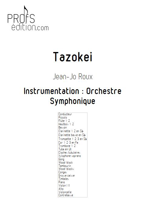 Tazokei - Orchestre Symphonique - ROUX Jean-Jo - page de garde