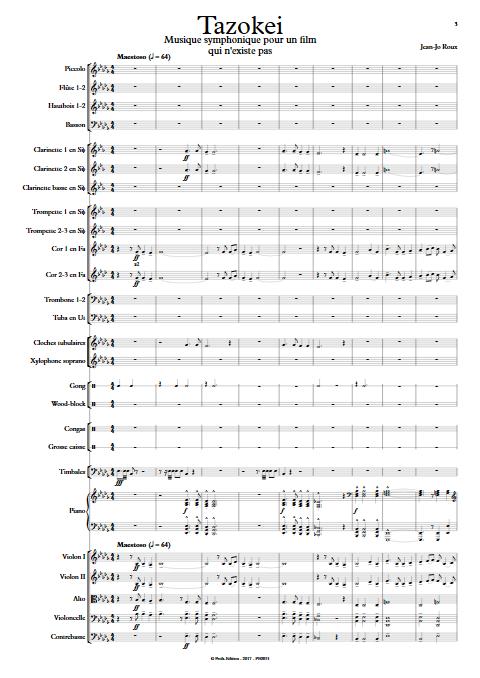 Tazokei - Orchestre Symphonique - ROUX Jean-Jo - Partition