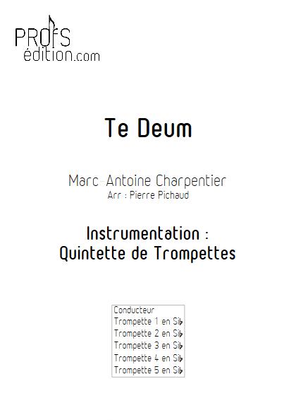 Te Deum - Quintette de Trompettes - CHARPENTIER M. A. - page de garde