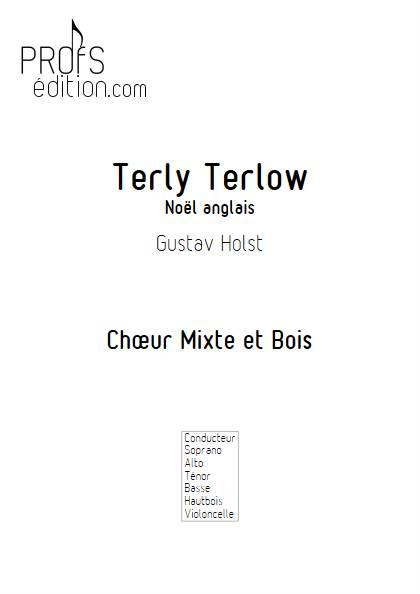 Terly Terlow - Chœur & Bois - HOLST G. - page de garde
