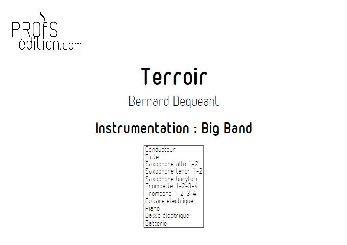 Terroir - Big Band - DEQUEANT B. - page de garde