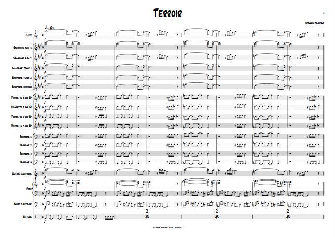 Terroir - Big Band - DEQUEANT B. - app.scorescoreTitle