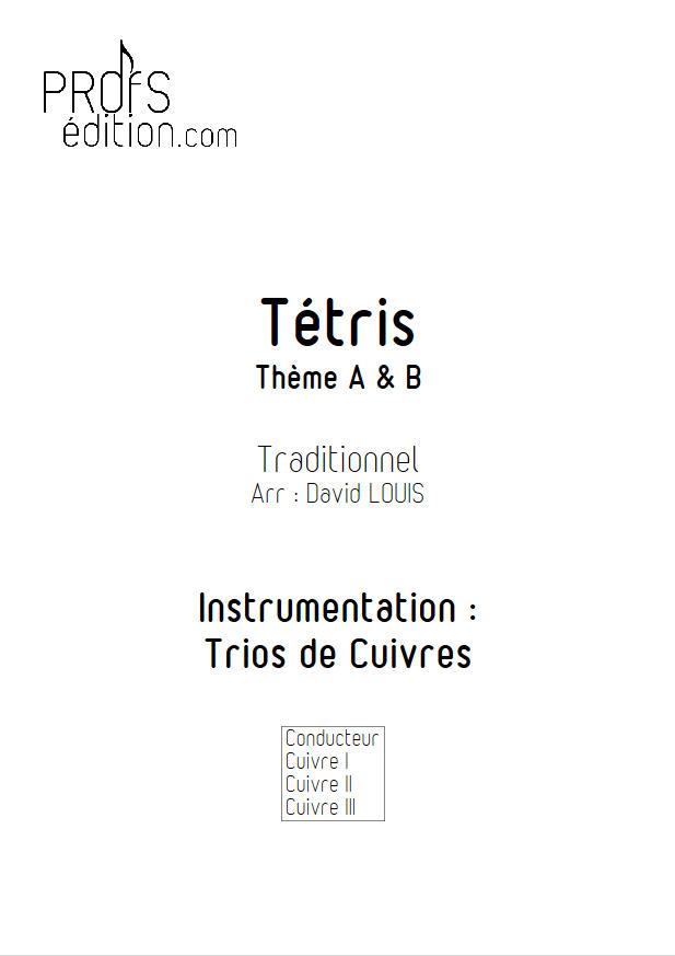 Tétris (2 thèmes) - Trio Cuivres - TRADITIONNEL RUSSE - page de garde