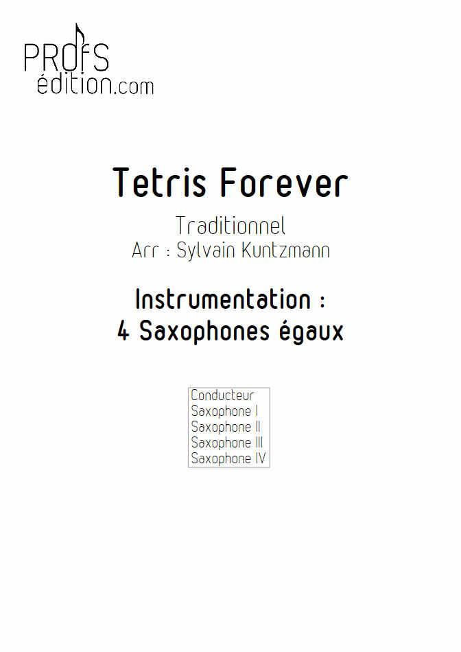 Tétris - 4 Saxophones égaux - TRADITIONNEL RUSSE - page de garde