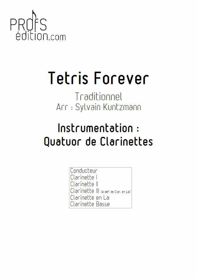 Tétris - Quatuor de Clarinettes - TRADITIONNEL RUSSE - page de garde