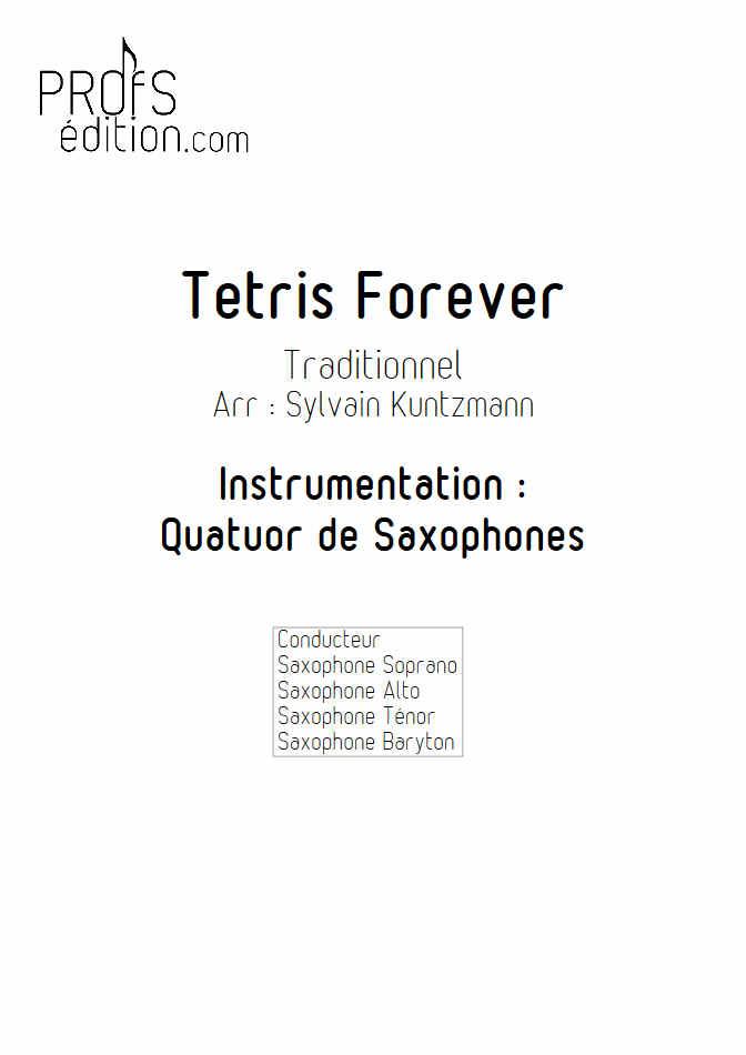 Tétris - Quatuor de Saxophones - TRADITIONNEL RUSSE - page de garde