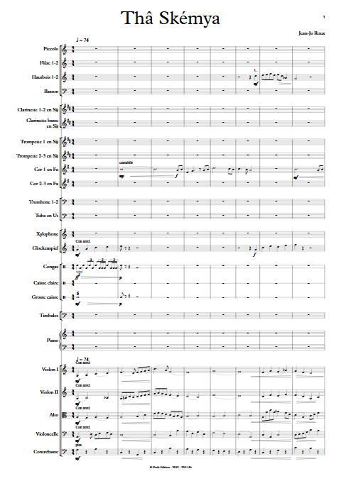 Thâ Skémya - Orchestre Symphonique - ROUX J.J. - Partition