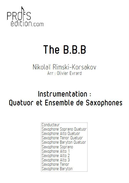 Bumble Bee Boogie (le vol du bourdon) - Quatuor et Ensemble de Saxophones - RIMSKY-KORSAKOV N. - page de garde