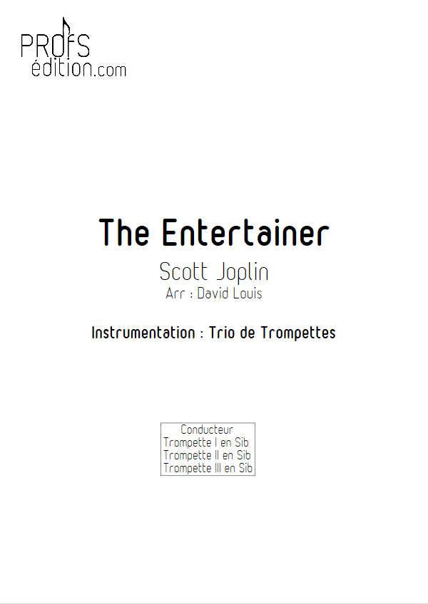 The Entertainer - Trio de Cuivres - JOPLIN S. - page de garde