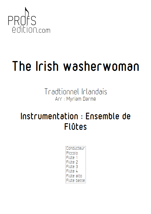 The Irish washerwoman - Ensemble de Flûtes - TRADITIONNEL IRLANDAIS - page de garde