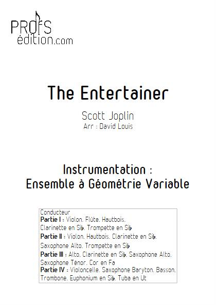 The Entertainer - Ensemble à Géométrie Variable - JOPLIN S. - page de garde