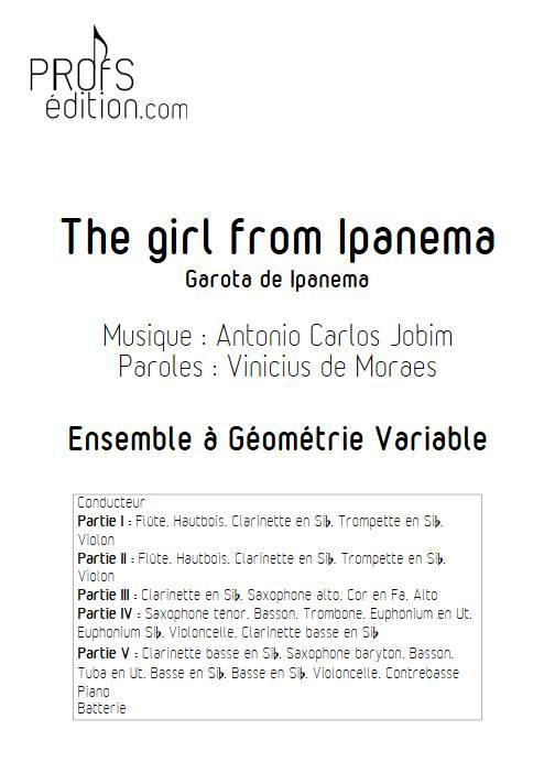 The girl from Ipanema - Ensemble Variable - JOBIM A. C. - page de garde