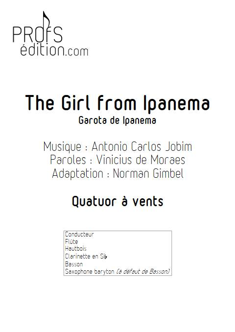 The girl from Ipanema - Quatuor à vents - JOBIM A. C. - page de garde