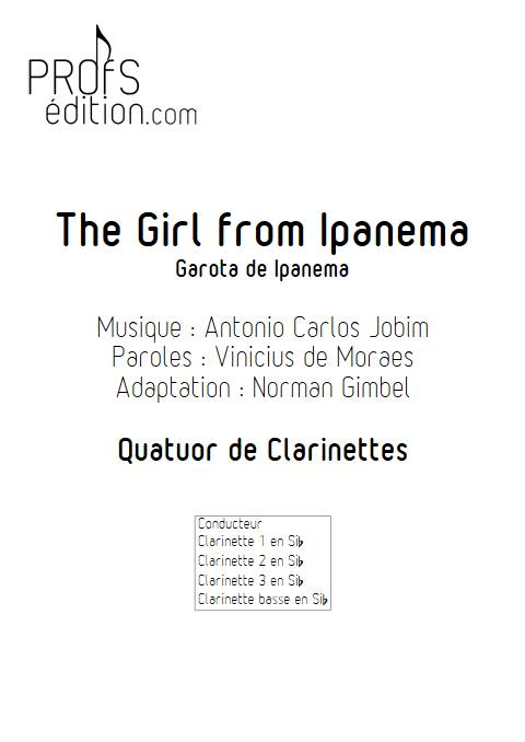 The girl from Ipanema - Quatuor de Clarinettes - JOBIM A. C. - page de garde