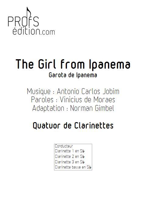 The girl from Ipanema - Quatuor de Clarinettes - JOBIM A. C. - page de garde