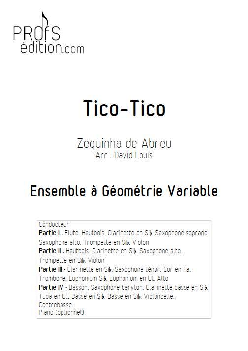 Tico-Tico - Ensemble Variable - De ABREU Z. - page de garde