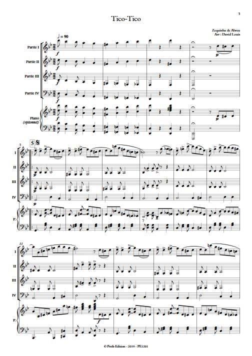 Tico-Tico - Ensemble Variable - De ABREU Z. - Partition