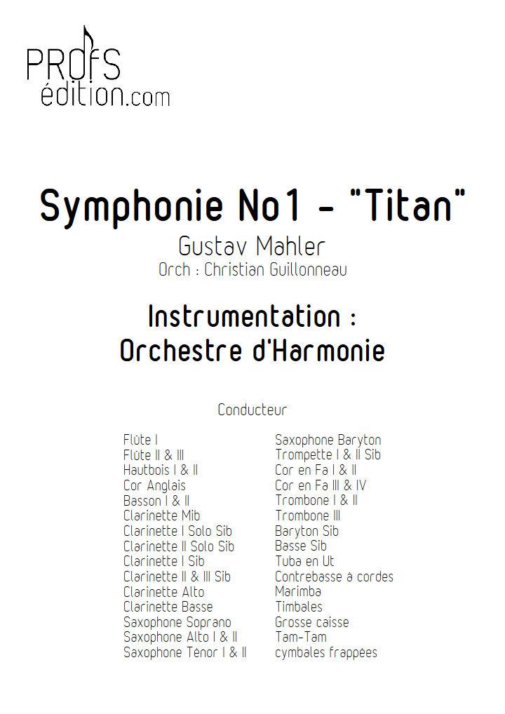 Symphonie n°1 Titan - Orchestre d'Harmonie - MAHLER G. - page de garde