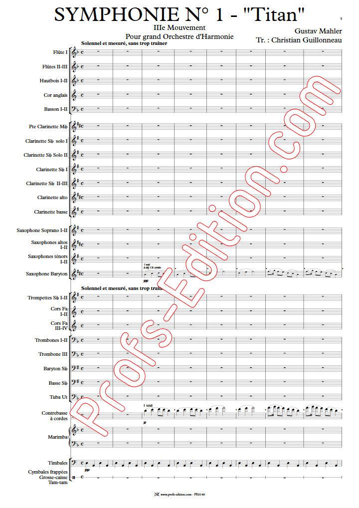 Symphonie n°1 Titan - Orchestre d'Harmonie - MAHLER G. - app.scorescoreTitle