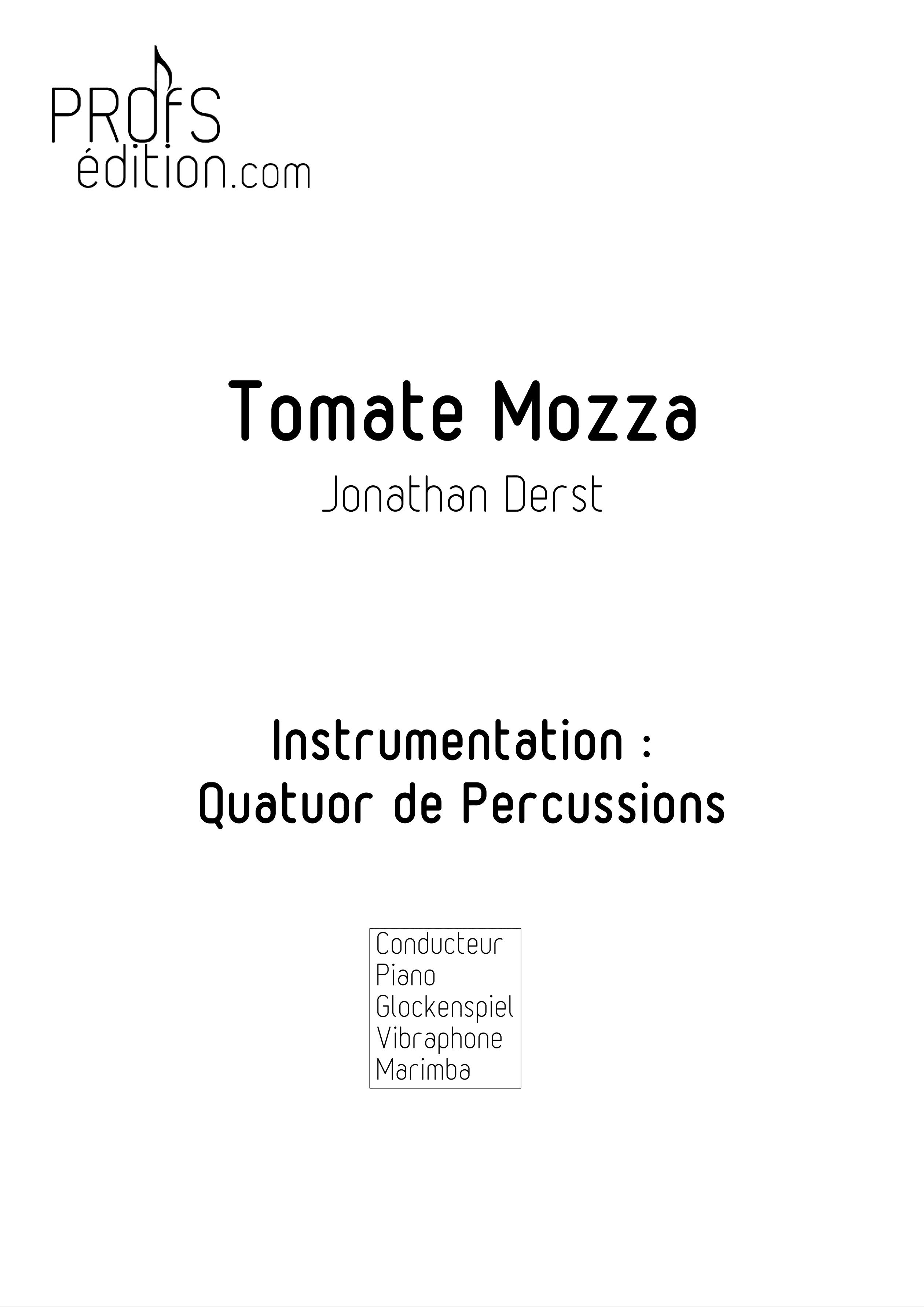 Tomate Mozza - Quatuor de Percussions - DERST J. - page de garde