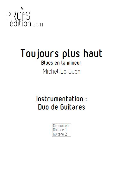 Toujours plus haut - Duo de Guitares - LE GUEN M. - page de garde