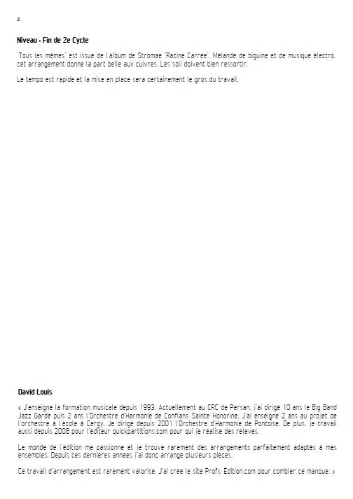 Tous les Mêmes - Ensemble à Géométrie Variable - STROMAE - Fiche Pédagogique