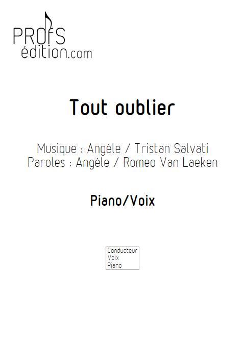 Tout oublier - Piano Voix - ANGELE - page de garde
