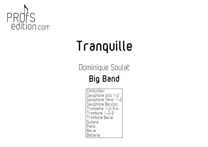 Tranquille - Big Band - SOULAT D. - page de garde