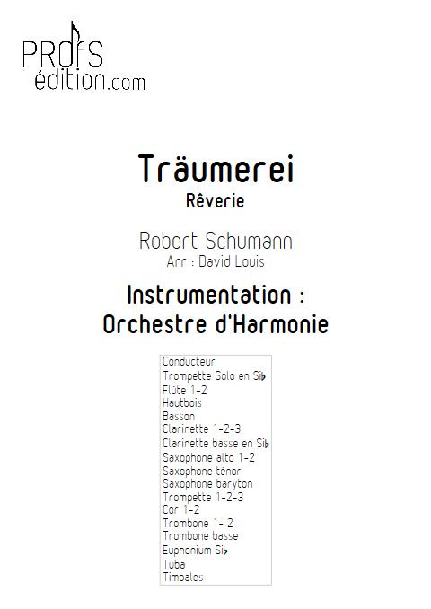 Träumerei - Orchestre d'Harmonie - SCHUMANN R. - page de garde