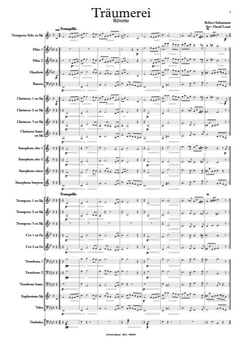 Träumerei - Orchestre d'Harmonie - SCHUMANN R. - app.scorescoreTitle