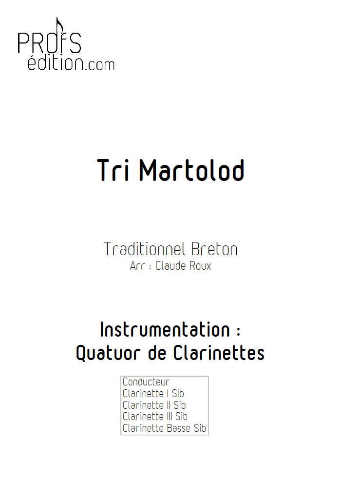 Tri Martelod - Quatuor de Clarinettes - TRADITIONNEL BRETON - page de garde