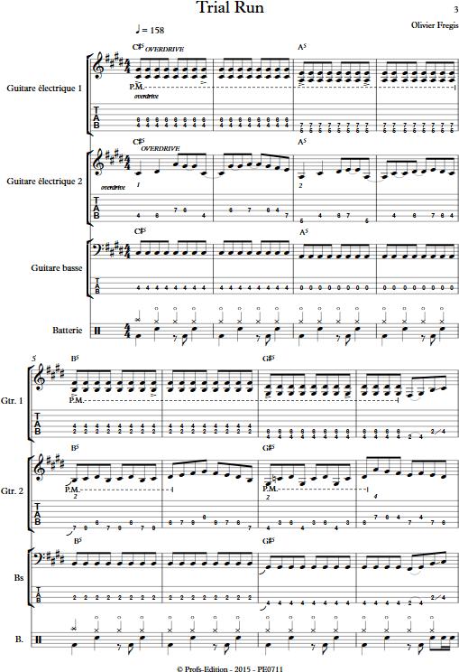Trial Run - Ensemble de Musiques Actuelles - FREGIS O. - Partition