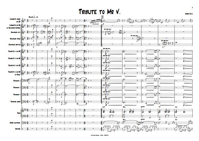 Tribute to Mr V - Big Band - VEYS A. - app.scorescoreTitle