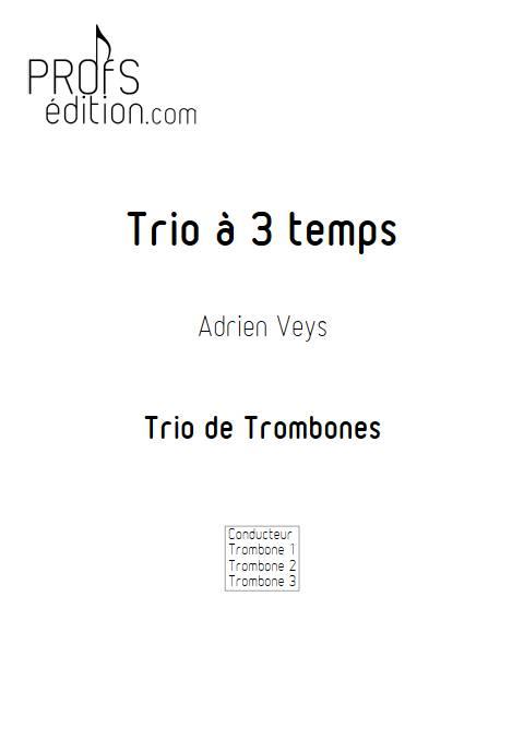 Trio à trois temps - Trio de Trombones - VEYS A. - page de garde