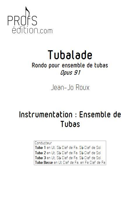 Tubalade - Quatuor de Tubas - ROUX J. J. - page de garde