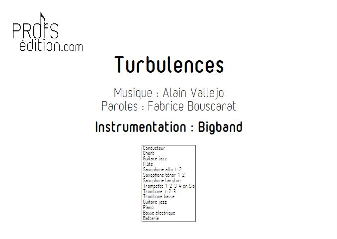 Turbulences - Big Band - VALLEJO A. - page de garde