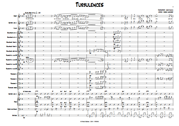 Turbulences - Big Band - VALLEJO A. - app.scorescoreTitle