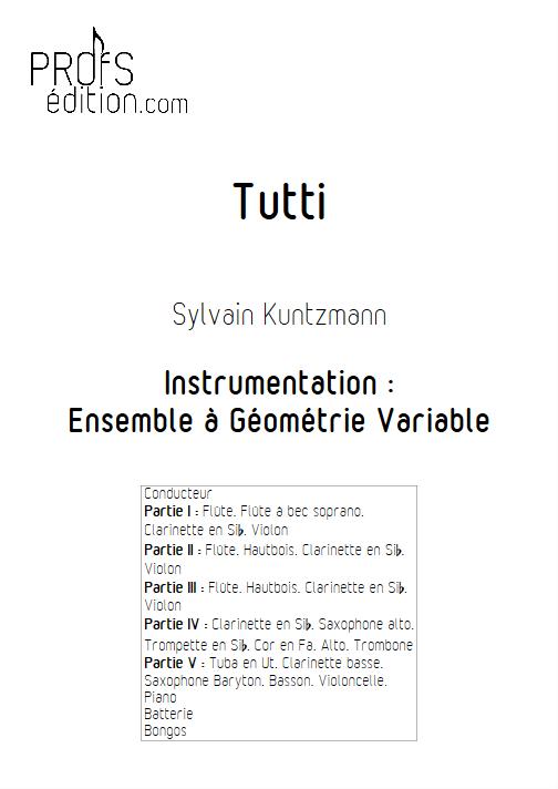 Tutti - Ensemble à Géométrie Variable - KUNTZMANN S. - page de garde
