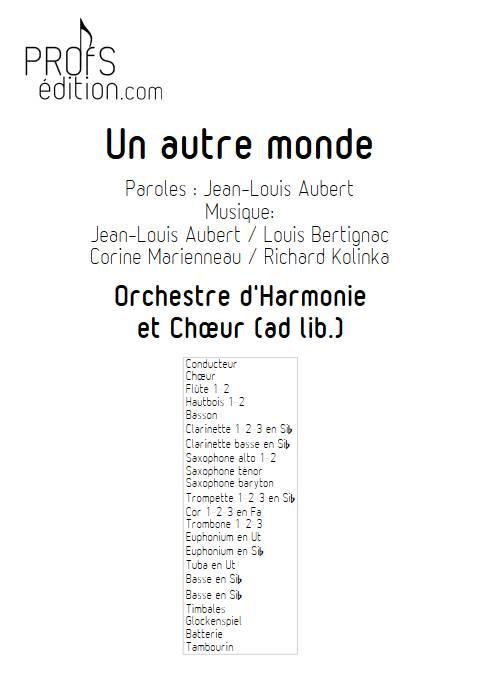 Un autre monde - Orchestre d'Harmonie - TELEPHONE - page de garde