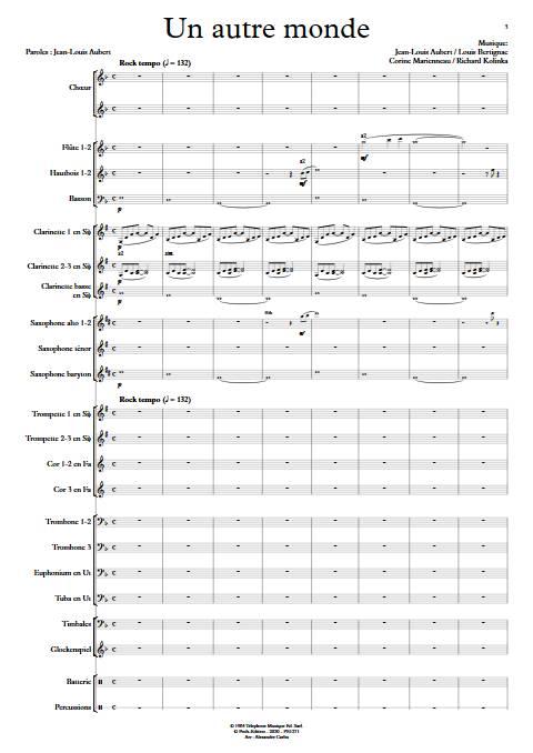 Un autre monde - Orchestre d'Harmonie - TELEPHONE - app.scorescoreTitle