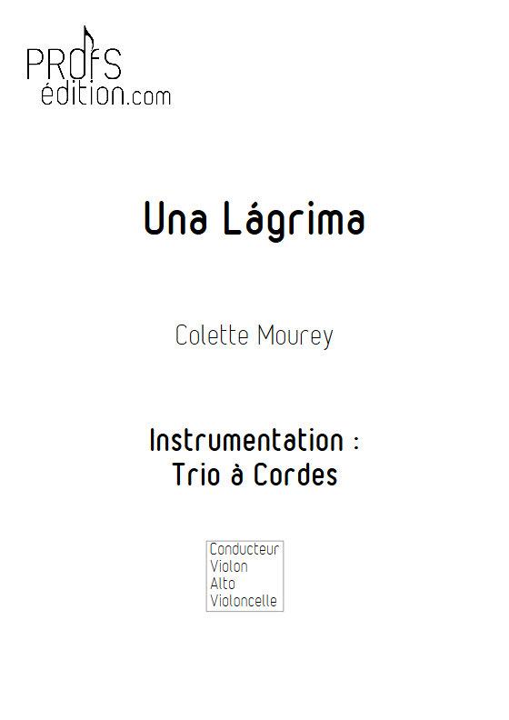 Una Lágrima - Trio à Cordes - MOUREY C. - page de garde