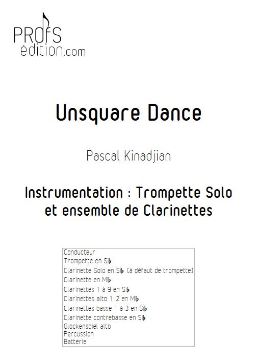 Unsquare Dance - Trompette et ensemble de Clarinettes - KINADJIAN P. - page de garde
